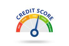 Credit Score Concept - 3d Rend...