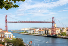 Vizcaya Bridge World Patrimony And Icon By Unesco.