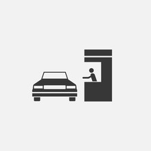 Drive Through Vector Icon Buying Take Away Food