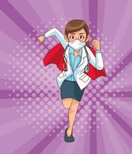 Super Female Doctor Runing Cha...