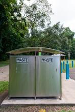 オーストラリア、公園に備え付けているゴミ箱