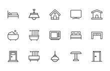 Simple Set Of House Modern Thi...