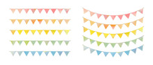 Set Of Watercolor Garland, Vec...