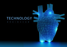 3d Render Illustration Of The Orange Heart Valve X-ray Collection