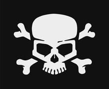 Skull And Bones. Jolly Roger Pirate Vector Flag.