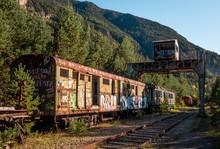Beautiful Shot Of A Train Wago...