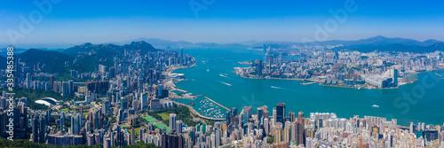 Hong Kong skyline Poster Mural XXL