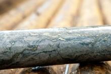 A Core Sample Of Copper Ore