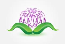 Logo Beautiful Lotus Flower Sp...