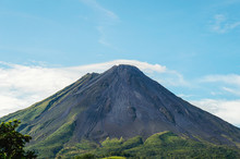 Arenal Volcano Seen In The Distance