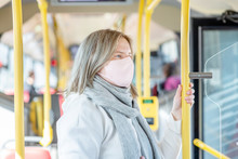 Woman Wearing Protective Mask ...