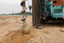 A Auger Drilling Machine At Co...