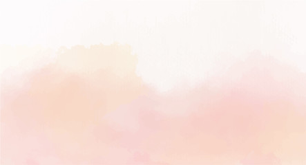 Soft Pink watercolor background for your design, watercolor background concept, vector.
