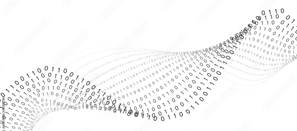 Fototapeta Abstract technology binary code background.Digital binary data and secure data concept with number 0 and 1.