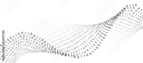 Fotografia Abstract technology binary code background