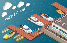 Yacht Club Isometric Compositi...