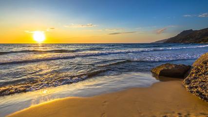 Fototapeta Morze Sunset in Mediterranean sea