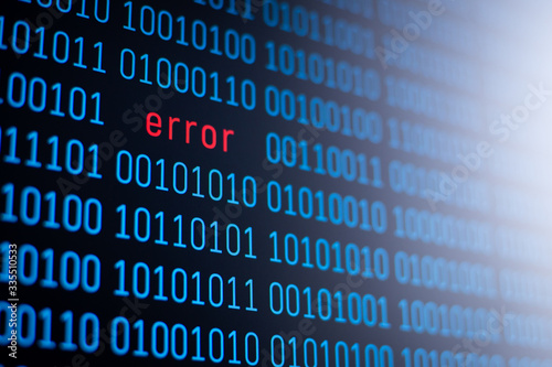 Concept of error in program code. Detection of dangerous worms, bugs and viruses in computer programs