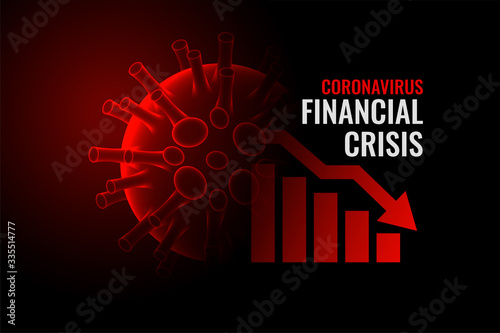 Fotomural coronavirus covid-19 financial crisis economy downfall background