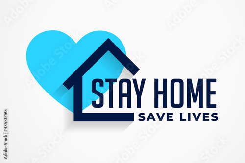 stay home and save lives poster design Canvas Print