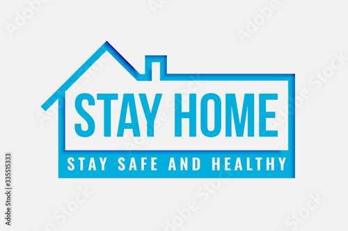 stay home and safe poster for being healthy Wallpaper Mural
