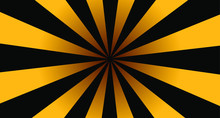 Black And Yellow Radial Stripes