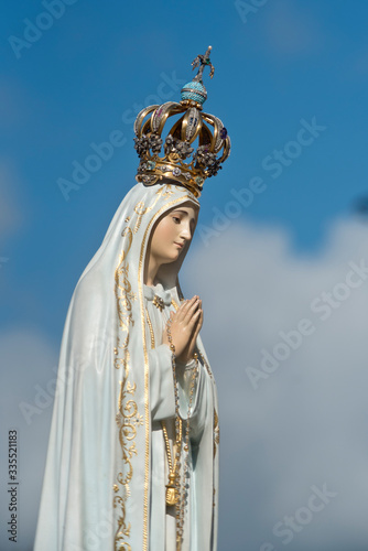 Statue of Our Lady of Fatima, in Fatima, Portugal