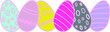 colorful easter eegs vector set on white