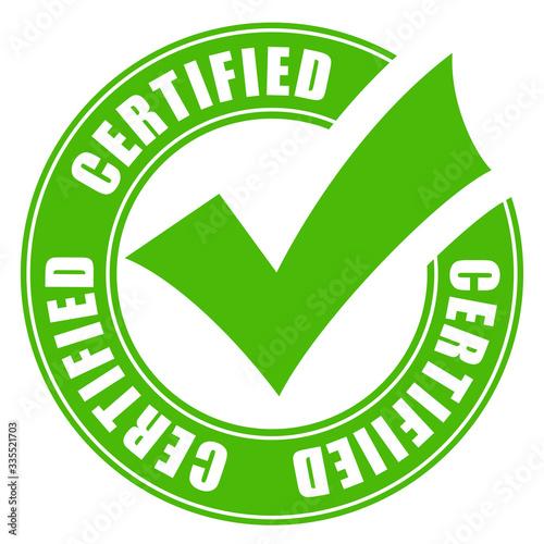 Obraz na plátně Certified quality vector icon
