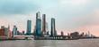 Skyline von New York City mit Hudson River und Hafen