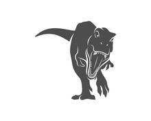T Rex Logo Design Template. Ve...