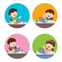 Children Boy And Girl Using Technology Gadget In House  Lifestyle Activity That You Can Do At Home To Stay Healthy