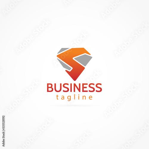 letter S logo icon Tablou Canvas