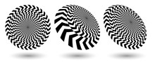 Round Optical Illusion With Bl...