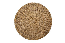 Round Woven Straw Mat Isolated...