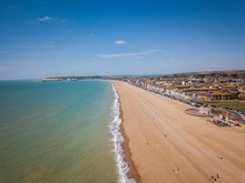 Aerial View Of Seaford Beach, East Sussex, England