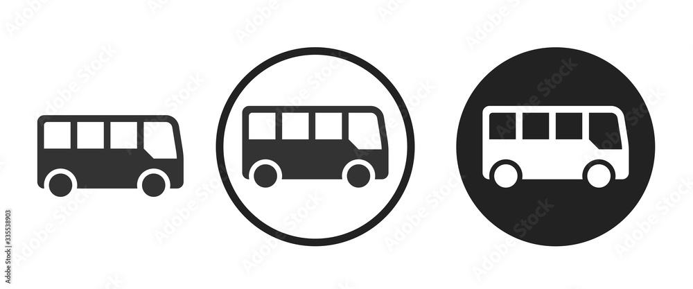 Fototapeta bus icon . web icon set .vector illustration