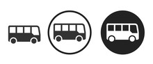 Bus Icon . Web Icon Set .vecto...