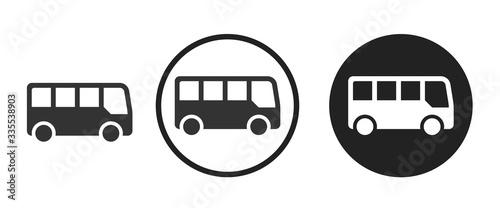 Fotomural bus icon . web icon set .vector illustration