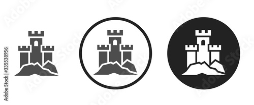 Obraz na plátne Castle icon . web icon set .vector illustration