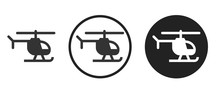 Helicopter Icon . Web Icon Set...