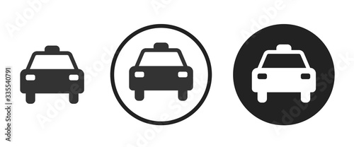 taxi icon . web icon set .vector illustration Billede på lærred