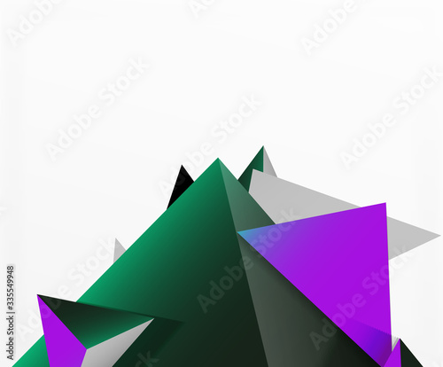 Abstract background, mosaic 3d triangles composition, low poly style design Canvas-taulu