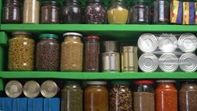 Stocked Home Pantry Ready For ...