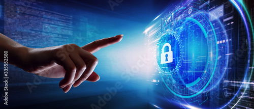 Fotografía Cyber security data protection business technology privacy concept
