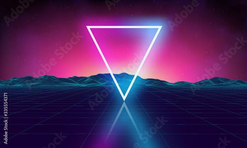 Fotografía Retro futuristic background for game