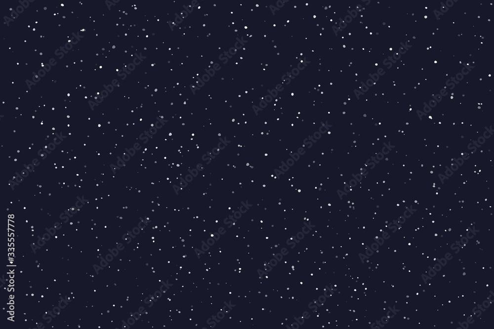 Fototapeta Stary night sky horizontal background. Vector illustration