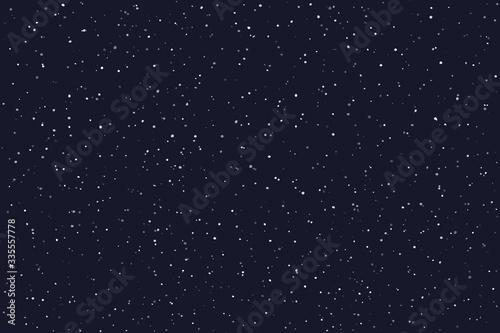 Fototapeta Stary night sky horizontal background. Vector illustration obraz