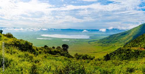 View over Ngorongoro Crater, Tanzania, East Africa (UNESCO World Heritage Site) Wallpaper Mural