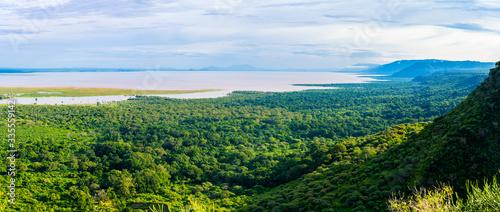 Fotografia View over Ngorongoro Crater, Tanzania, East Africa (UNESCO World Heritage Site)